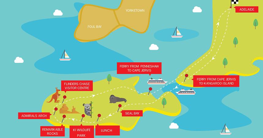 1 Day Kangaroo Island Tour itinerary